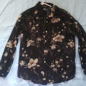 2 piece sheer blouse/tunic